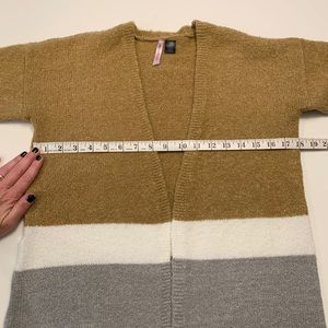 Love By Design Sweaters - Long Color Block Cardigan Sweater